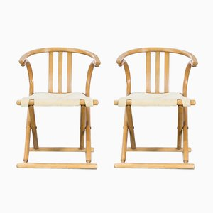 Bentwood Folding Chairs from Thonet, 1960s, Set of 2