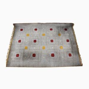 Large Geometric Carpet, 1940s