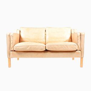 Dänisches Vintage 2-Sitzer Ledersofa, 1980er