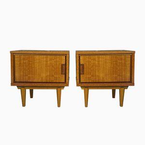 Scandinavian Bedside Tables, 1960s, Set of 2