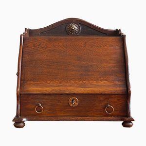 Victorian English Oak Desk Box