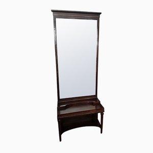 Antique Art Nouveau Standing Mirror