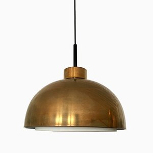 Mid-Century Brass Pendant Lamp from Doria, 1960s