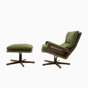 Chaise de Bureau & Ottomane par André Vandenbeuck pour Strässle, 1960s