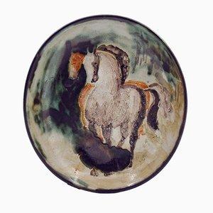 Vintage Teller von the Grand Chêne Vallauris Pottery