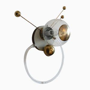 Lampade da parete Sputnik in vetro, anni '60, set di 2