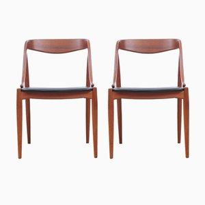 Vintage Stühle in Teak und Skai von Johannes Andersen für Uldum Møbelfabrik, 2er Set