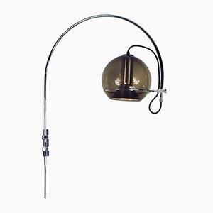 Lampada da parete Globe Arc di Frank Ligtelijn per Raak, anni '70