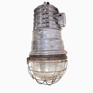 Polish Industrial Aluminum Warehouse Light, 1950s
