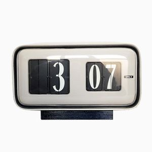 Cifra 5 Table Clock by Gino Valle for Solari Udine, 1950s