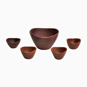 Teak Salad Bowls from Goodwood, 1960s, Set of 5