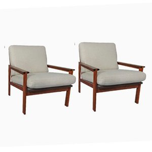 Vintage Rosewood Capella Chairs by Illum Wikkelsø and Niels Eilersen, Set of 2