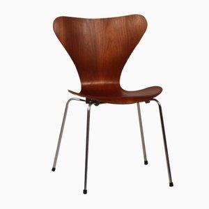 3107 Series 7 Chair in Teak by Arne Jacobsen for Fritz Hansen, 1966