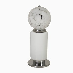 Mid-Century Metal and Glass Table Lamp