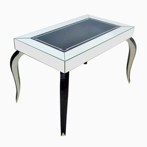Art Deco Mirror and Silver Leaf Side Table, 1935
