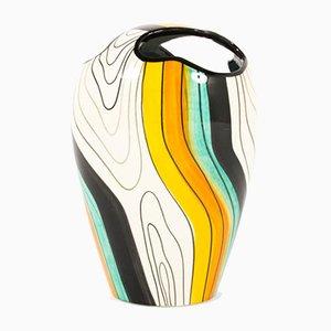 Colorful Ceramic Vase, 1960s