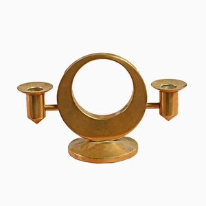 Swedish Brass Candleholder for 2 Candles by Arthur Pettersson, 1960s