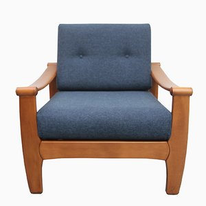 Dark Blue Armchair, 1960s