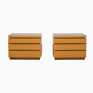 Vintage Bed Side Tables by Jean Claude Mahey, 1980s, Set of 2