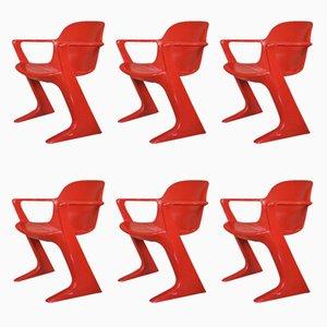 Kangaroo Stuhl von Ernst Moeckel & Siegfried Mehl für VEB Petrochemisches Kombinat Schwedt, 1960er, 6er Set