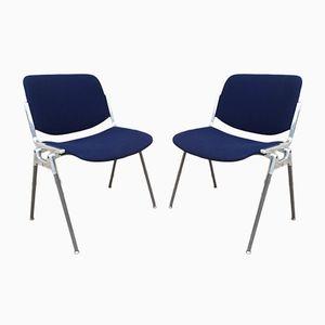 Blaue Stühle von Castelli, 1970er, 2er Set