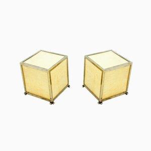 Mid-Century Goatskin Cube Floor Lamps by Aldo Tura, 1950s, Set of 2