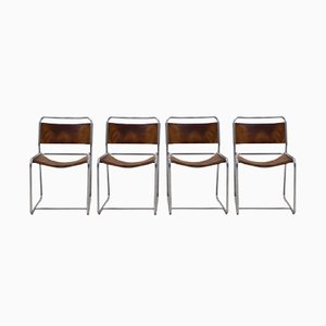 SE18 Dining Chairs by Claire Bataille & Paul Ibens for 't Spectrum, 1971, Set of 4