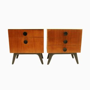 Vintage Bedside Tables by UP Zavody, Set of 2