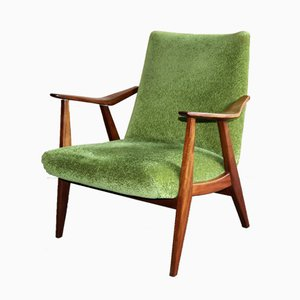 Vintage Moss Green Armchair, 1960s