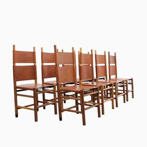 Vintage Kentucky Stühle von Carlo Scarpa für Bernini, 1970er, 8er Set