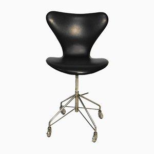 Sedia girevole serie 7 vintage di Arne Jacobsen per Fritz Hansen