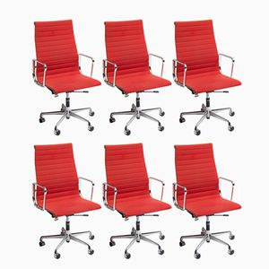 EA108 Office Chairs by Charles & Ray Eames for Vitra, 1950s, Set of 6
