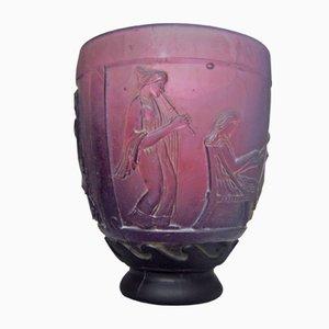 Art Deco Glass Vase by Georges De Feure, 1920s