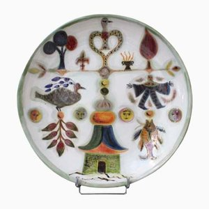 Keramik Teller von David Sol, 1970er