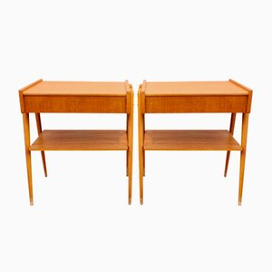 Tables de Chevet en Teck, 1950s, Set de 2