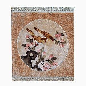 Handmade Chinese Silk Rug, 1980s