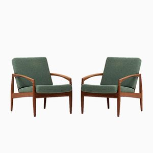 Model 121 Armchairs by Kai Kristiansen for Magnus Olesen, 1950s, Set of 2
