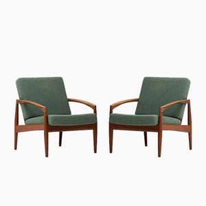 Modell 121 Armlehnstühle von Kai Kristiansen für Magnus Olesen, 1950er, 2er Set