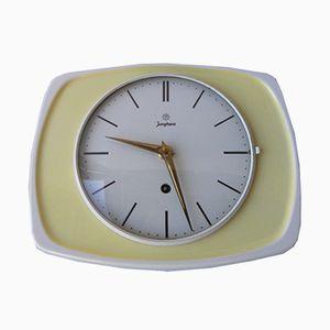 Mid-Century Ceramic Clock from Junghans