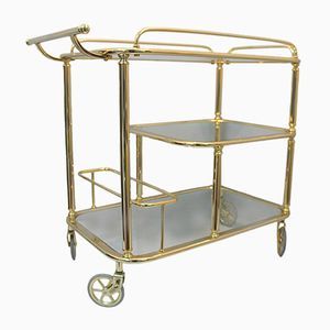 Gold Metal Bar Cart, 1970s