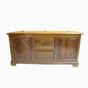 Vintage Spanish Solid Wood Chest, 1950s