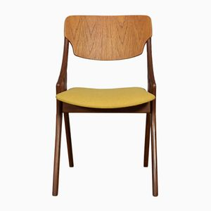Mustard Occasional Chair by Arne Hovmand Olsen for Mogens Kold, 1950s