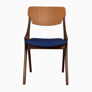 Blauer Stuhl von Arne Hovmand Olsen für Mogens Kold, 1950er