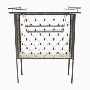 Italienischer Barschrank aus Eisen & Keramikfliesen, 1950er