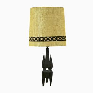 Vintage Wooden Shade Lamp