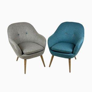 Mid-Century Lounge Armchairs, 1960s, Set of 2