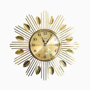 German Sunburst Wall Clock from Atlanta, 1960s