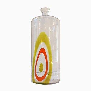 Bottiglia Saturno in vetro di Murano di Lino Tagliapietra per La Murrina, 1968