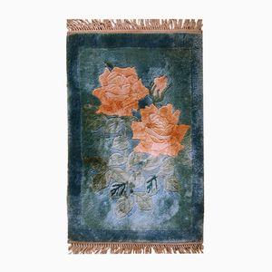 Vintage Handmade Chinese Silk Rug, 1980s