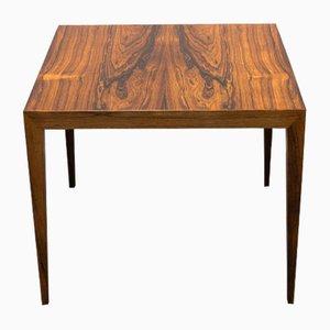 Tavolino impiallacciato in palissandro di Severin Hansen Jr. per Haslev Møbelsnedkeri, anni '50